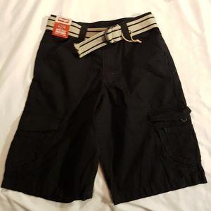 Wrangler belted cargo shorts black boys 10